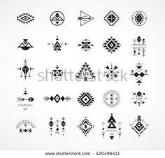 Esoteric Alchemy boho bohemian sacred geometry tribal and Aztec sacred geometry mystic shapes symbols Bohemian Tattoo, Boho Tattoos, Trendy Tattoos, Hand Tattoos, Small Tattoos, Sacred Geometry Symbols, Sacred Geometry Tattoo, Simbolos Tattoo, Shape Tattoo