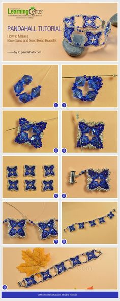 Pandahall Tutorial on How to Make a Blue Glass and Seed Bead Bracelet from LC.Pandahall.com by thelma