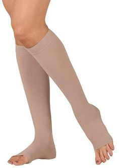 30-40 mmHg Juzo Dynamic (Varin) AD-N Compression Stockings. Knee High. Max. Open Toe 5cm Silicone Grip. , Size:IV