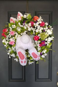 Spring Easter Bunny Wreath Boxwood Summer Wreath Front Door Wreath White Boxwood Door Decor Grapevine Wreath House Warming Gift by CustomWreathShop Easter Gift, Easter Crafts, Easter Bunny, Easter Wreaths, Holiday Wreaths, Diy Wreath, Grapevine Wreath, White Wreath, Wreaths For Front Door