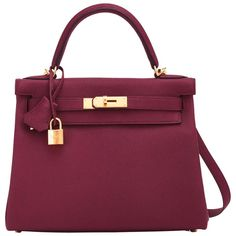 Hermes Bordeaux Red Kelly Togo Gold Hardware New Release Exquisite Hermes Purse, Hermes Kelly Bag, Hermes Bags, Hermes Handbags, Fashion Handbags, Purses And Handbags, Fashion Bags, Hermes Store, Ladies Handbags