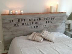 Tete de lit Cérusé : Accessoires de maison par relooking-eve sur ALittleMarket