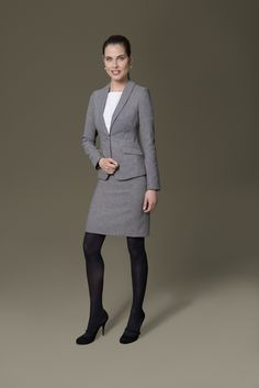 Your winter style ought to resist winter's cold and this means you'll require a decent versatile top coat. Pantyhose Outfits, Black Pantyhose, Tights Outfit, Black Tights, Business Outfits Women, Business Suits, Office Outfits, Work Outfits, Pencil Skirt Outfits