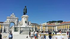 The fabulous city of Lisbon, and the Praça do Comercio. You can see the fortress, the São Jorge Castle looming above the square.