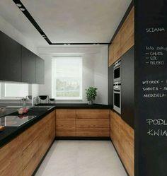 cc64b6307766ee ... without handles and matt black surfaces Home Decorating Ideas Kitchen  Source   cuisine en U petite surface avec armoires en bois sans poignées et  ...