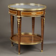A Louis XVI Style Gilt-Bronze Mounted Kingwood And Marquetry #Gueridon with a Marble Top. French, Circa 1880 - #adrianalan #antique