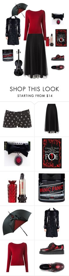 """Outfit 188"" by creaturefeaturerules ❤ liked on Polyvore featuring RED Valentino, Anna Sui, Manic Panic NYC, Versace, Donna Karan and Underground"