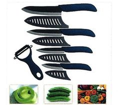 Set Ceramic Knife Kitchen Peeler 4 6 Cutlery AU $35