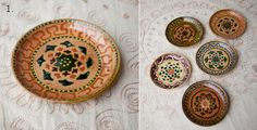Items similar to Decorative hand painted plates on Etsy Hand Painted Plates, Decorative Plates, Ceramics, Unique Jewelry, Handmade Gifts, Painting, Etsy, Vintage, Food