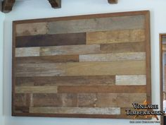 Vintage wood for unique wall siding