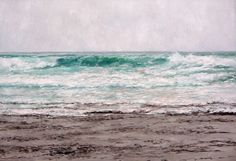 marina al oleo del mar cantábrico
