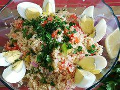 Fabulosa receta para Ensalada de quinoa. Una comida completa en un solo plato.