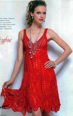 crochet pattern - cocktail dress (in russian, with charts) - absolutely stunning