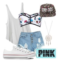 """Cuz I'm Tinna"" by kaltrina-tinna ❤ liked on Polyvore featuring RVCA, River Island and Converse"
