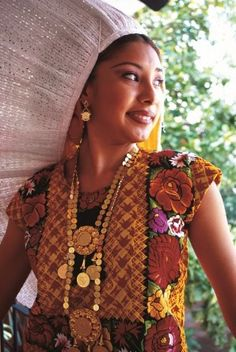 Traditional Dress, beautiful Mexican woman