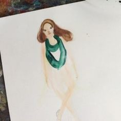 #marchmeetthemaker Day 18 Hyperlapse - So did you celebrate St Patrick's Day this weekend? . . Better late than never here's me painting the costume of an Irish dancer!  Perfect addition to my World Dance project. . I had a somewhat relaxing weekend watching a LOT of Irish dances and Irish jigs this weekend. Sketching their movements and their feet. There are so many talented dancers out there and boy their feet must hurt! .  For reference I refused to watch Michael Flatley or Lord of the…