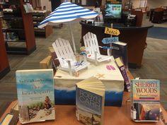 Beach reads book display.
