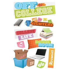 Purchase the Paper House® 3D Stickers, Off to College at Michaels.com. Fill-in your journal pages with all your fun memories and stories about going to college, accentuated with the Paper House® 3D Stickers.