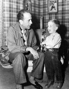 Humphrey Bogart and his son Stephen