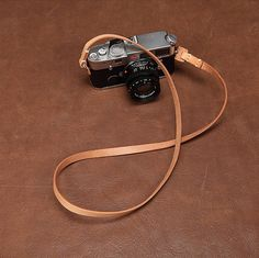Leather Camera Strap // Natural Vegetable Tanned // Hand Cut & Hand Sewn // USA