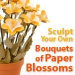 Paper Blossom Bouquets ... learn how to make eight unique paper flowers using craft punches.  Then take your paper flowers to the next level by crafting them into paper flower bouquets!  Free online flower making class from Spotted Canary!