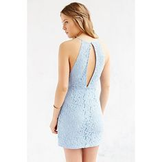 Kimchi Blue Scallop Lace Surplice Bodycon Dress ($20) ❤ liked on Polyvore