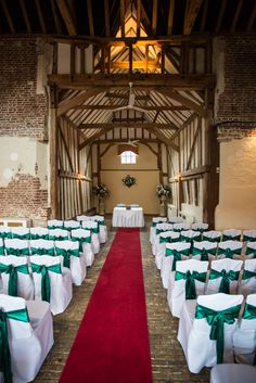 The gorgeous Coach House ready for a ceremony :)