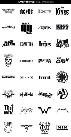 Obsession: Rock Band Logos research into existing band logos. many just consist of an interesting font, i think a band logo has to be memorable and recognisable.Band Band or BAND may refer to: Rock Poster, Gig Poster, Music Tattoos, Cool Tattoos, Rock Tattoo, Rock And Roll Tattoo, Metal Tattoo, Rockband Logos, Rock Logos