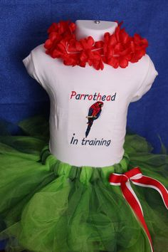 personalized onesie tutu set Parrothead Jimmy by AsYouWishCustom, $41.00