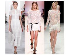 La mode dentelle printemps été 2014