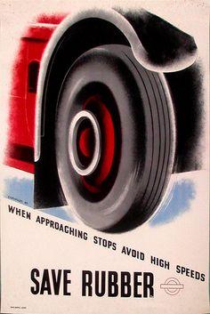 Tom Eckersley for London Transport 1940s