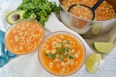 Sopa de conchitas o sopa aguada de conchitas www.pizcadesabor.com