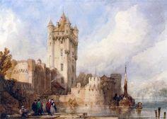 David Roberts: Kurfürstliche Burg, Eltville, on the Rhine, Germany