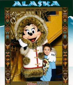 Corbin and Minnie Mouse on an Alaskan cruise Best Family Cruises, Alaskan Cruise, Mickey Mouse, Disney Characters, Fictional Characters, Art, Art Background, Kunst, Performing Arts