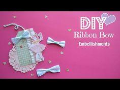 DIY Embellishments: Ribbon Bows- Build Your Stash #8 - YouTube
