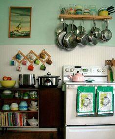 Living Beautifully - tiny kitchen idea