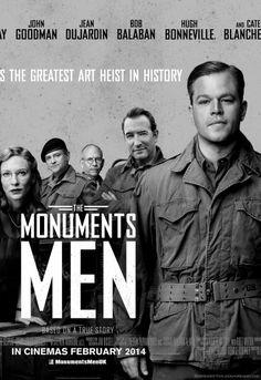 George Clooney's 'The Monuments Men', 2014 - Co staring Matt Damon, Bill Murray, Cate Blanchett and Bob Balaban - An excellent art heist movie!
