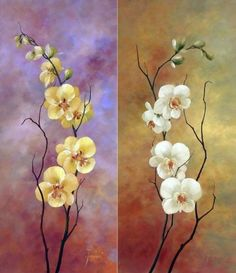 e floral wallpapers Abstract Canvas Art, Acrylic Painting Canvas, Acrylic Art, Watercolor Paintings, Gouache Painting, Tole Painting, Flower Art, Art Flowers, Beautiful Flowers