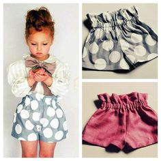 Adorable paperbag shorts & easy to make! For Addy!
