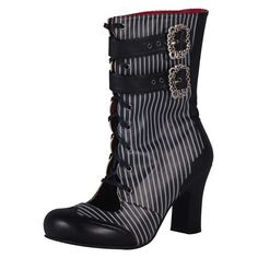 T.U.K. Shoes Pinstripe Baby Doll Boot