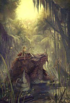 Boy and his tortoise by lockjaw.deviantart.com on @deviantART