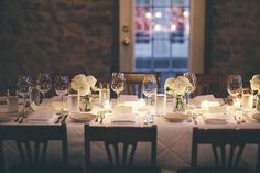 Adele & Brian jetted in from California to Canada to enjoy an intimate Vineland Estates reception with family and friends. Vineland Estates, Wedding Locations, Tablescapes, Opportunity, Wedding Flowers, Dream Wedding, Table Settings, Reception, California