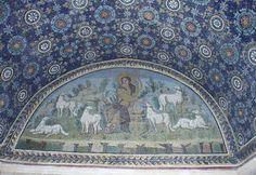 www.school.edu.ru :: Христос Добрый пастырь. Мозаика северного люнета мавзолея Галлы Плацидии в Равенне