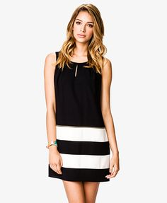 Work dress: Colorblocked Zippered Shift Dress | FOREVER21 - 2034544811