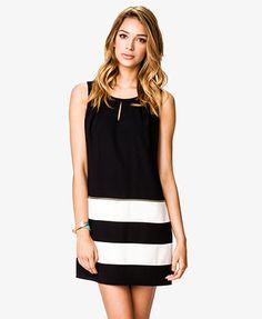 Work dress: Colorblocked Zippered Shift Dress   FOREVER21 - 2034544811