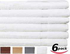 """GOT IT! I need white bath towels. I have beautiful white bath sheets, but no regular bath towels. Utopia 100% Cotton Bath Towels Easy Care, Ringspun Cotton for Maximum Softness and Absorbency, 6-Pack - White (27"""" x 54"""")"""