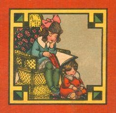 Ella Dolbear Lee (American 1866-1929) Girl Reading, 1917.