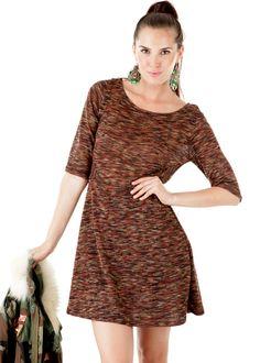 Bohemian Minikleid Double Face Wool braun: GUNDI BLIND, Germany