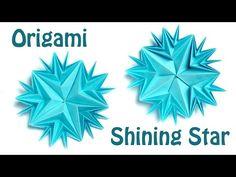 How to make origami Shining star (Ekatrina. Lukasheva) - YouTube
