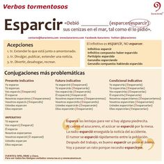 Verbos tormentosos: ¿cómo se conjuga «esparcir»? Compruébalo aquí: http://www.mystilus.com/Conjugador_verbal